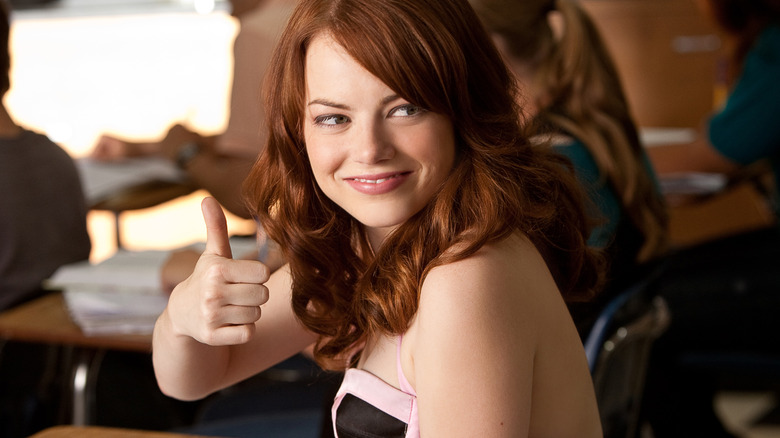 Emma Stone as Olive Penderghast in Easy A
