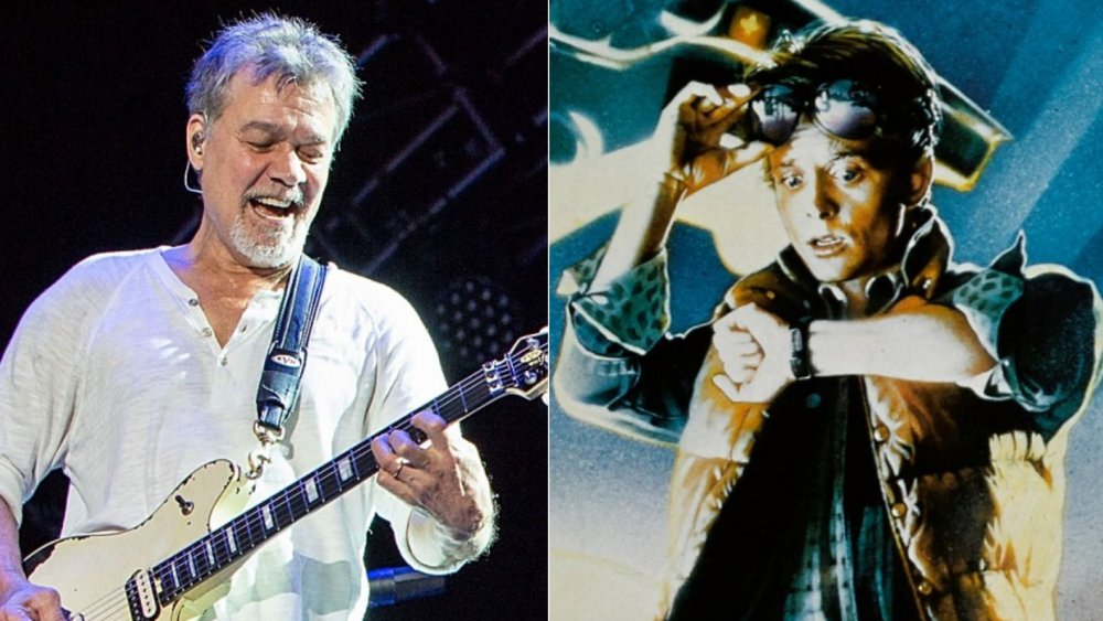 Eddie Van Halen, original Back to the Future poster art