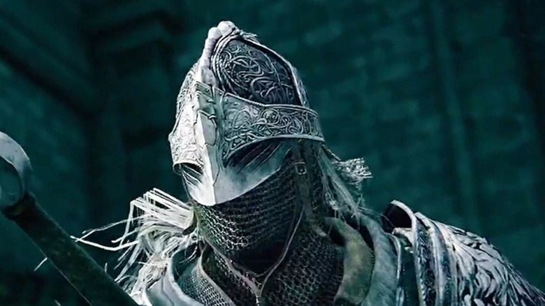 Knight draws sword