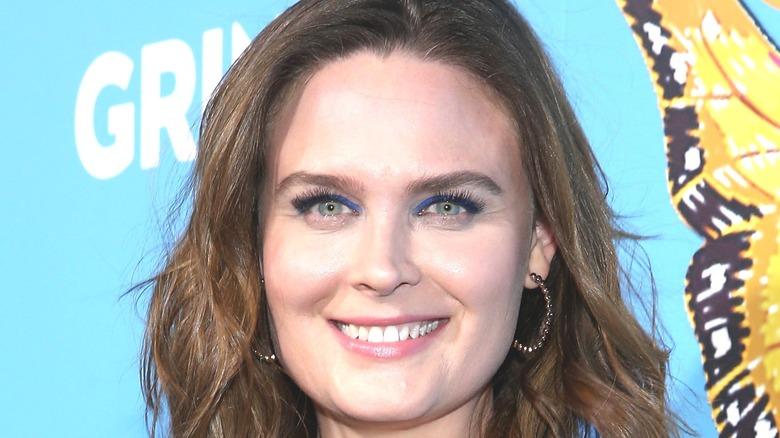 Emily Deschanel Blue Background