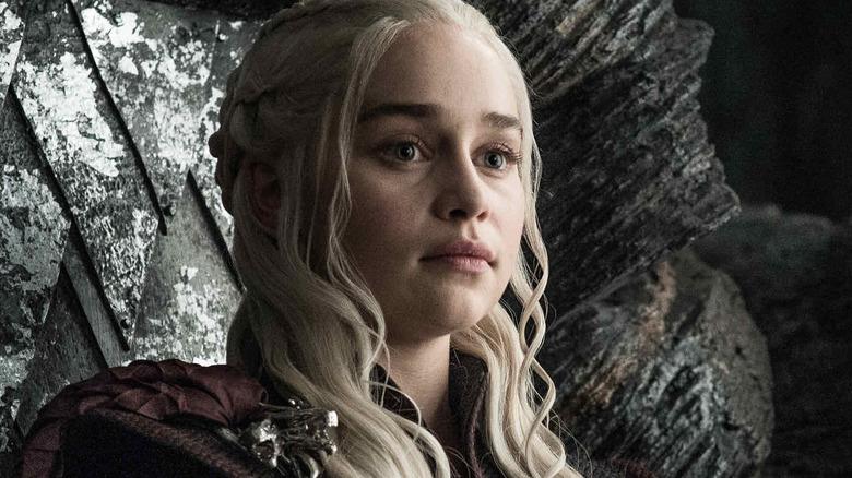Emilia Clarke as Daenerys Targaryen on Game of Thrones