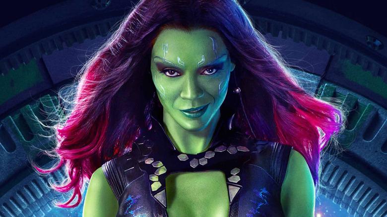 Zoe Saldana as Gamora Guardians of the Galaxy