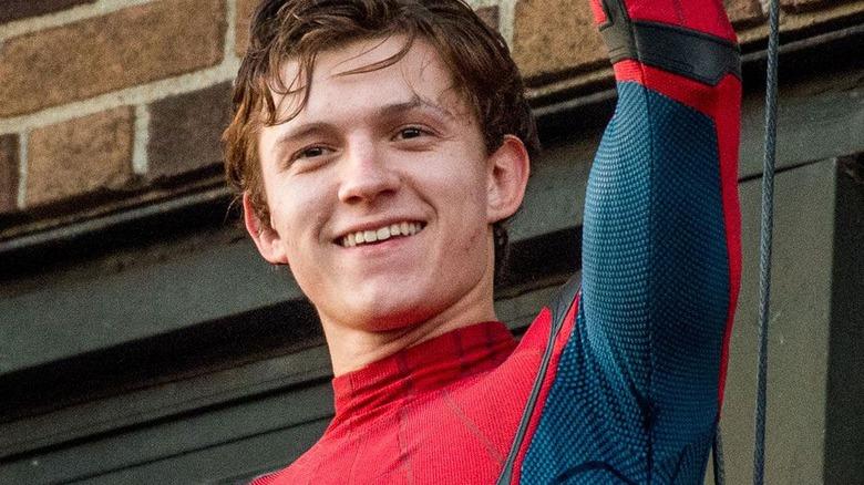 Spider-Man Tom Holland smiling