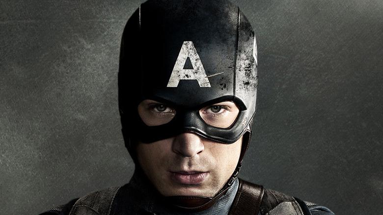 Captain America facing ahead