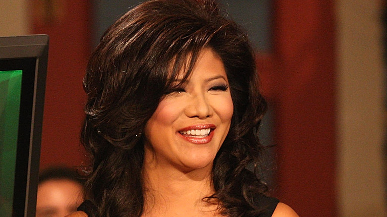 """Julie Chen, the host of """"Big Brother,"""" at the Season 10 finale."""