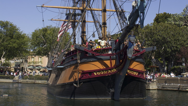 Sailing Ship Columbia on the Rivers of America - Cropped