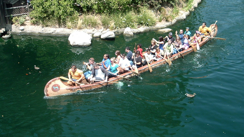 Davy Crockett's Explorer Canoes on the Rivers of America - Cropped