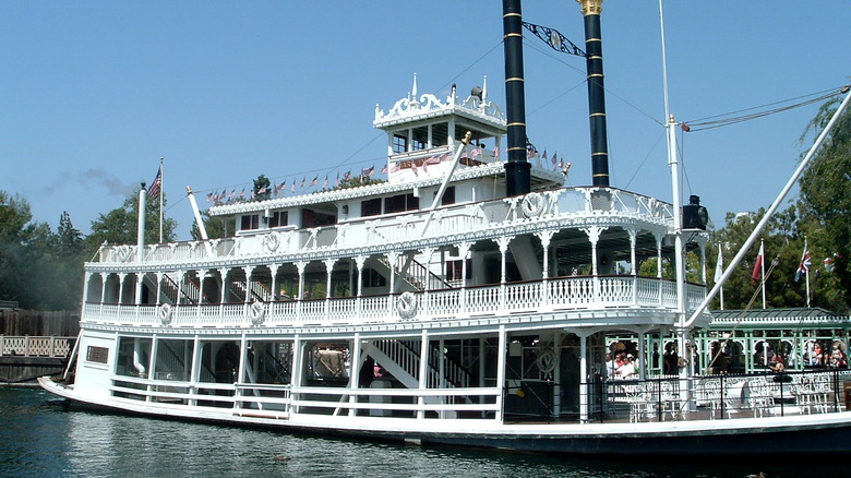 Mark Twain Riverboat on the Rivers of America - Cropped