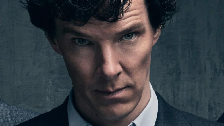 Sherlock Holmes staring ahead