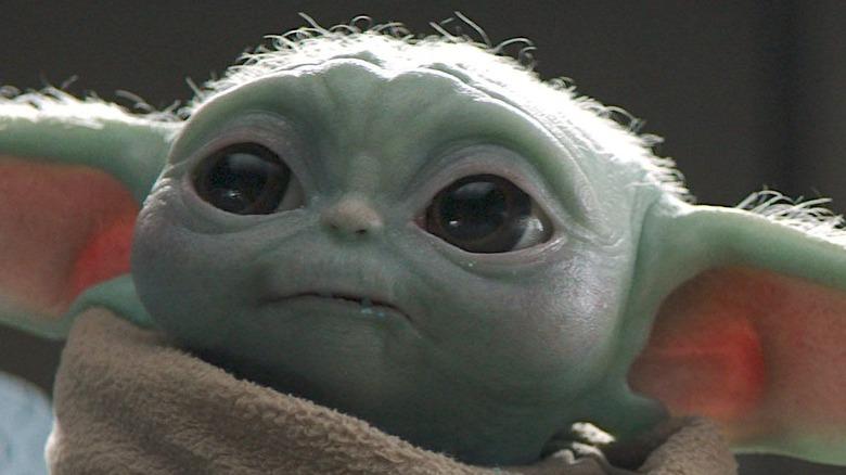 Baby Yoda eats cookie