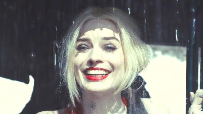 Harley Quinn looking mischievous