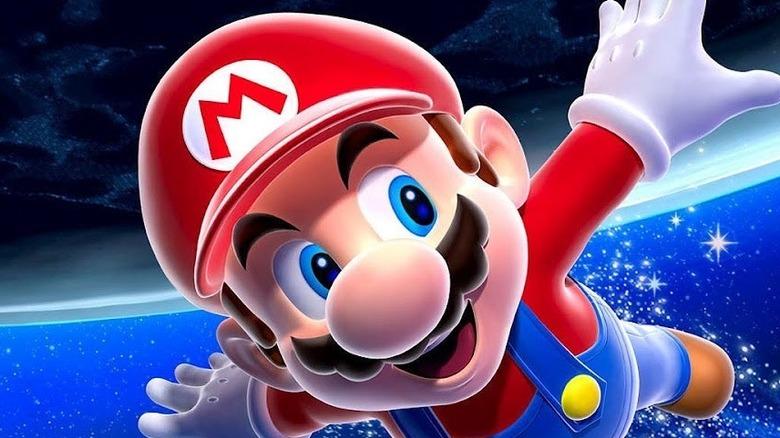 Mario Galaxy flying