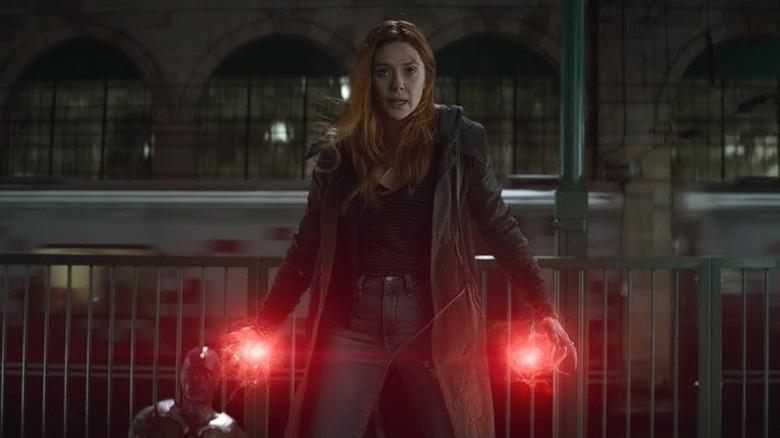 Elizabeth Olson as Scarlet Witch in Avengers: Infinity War