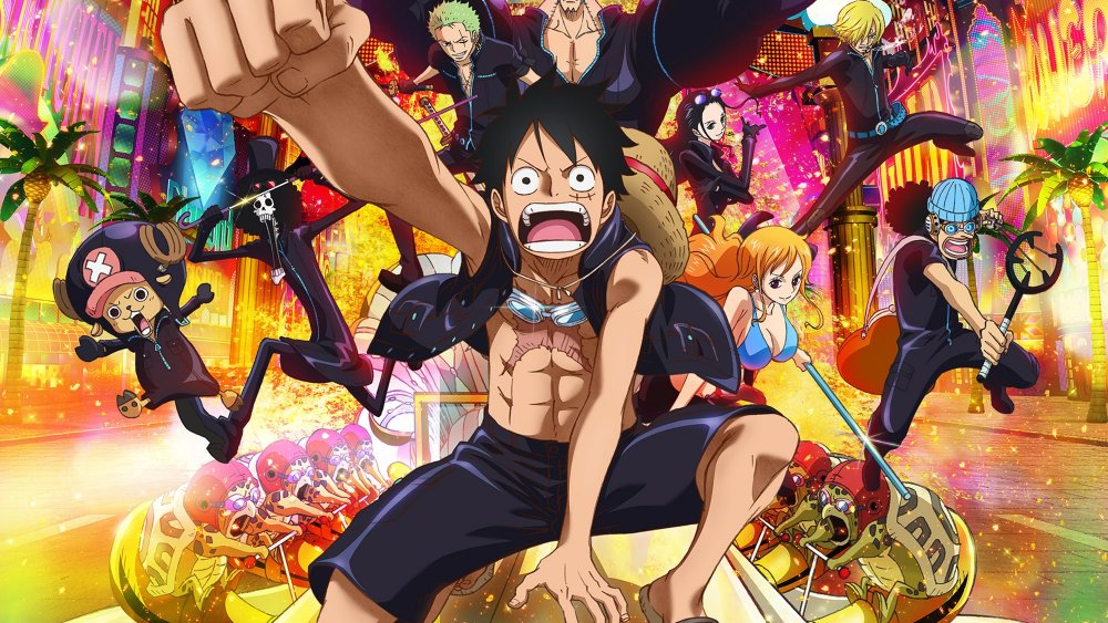 Monkey D. Luffy and the Straw Hat Pirates in One Piece Film: Gold