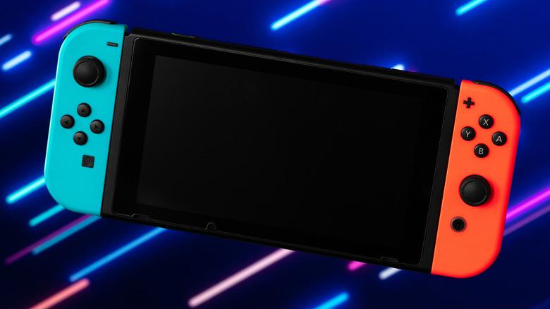 Nintendo Switch handheld laser background