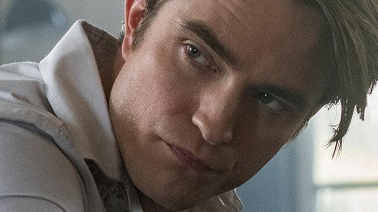 Robert Pattinson staring