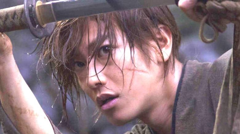Rurouni Kenshin Himura cross-shaped scar