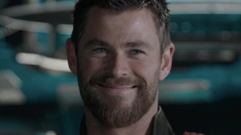 Chris Hemsworth Thor grinning
