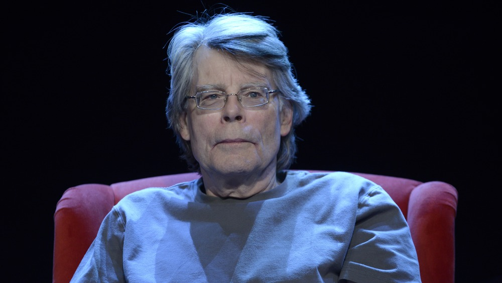 Stephen King in chair