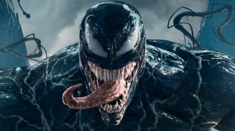 Venom showing off tongue