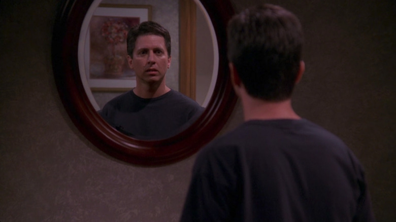 Ray Barone looking in mirror