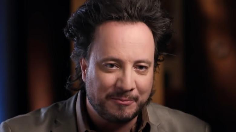 Giorgio A. Tsoukalos talking about aliens