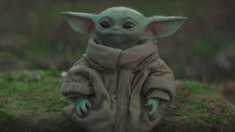 Baby Yoda, or Grogu, in The Mandalorian