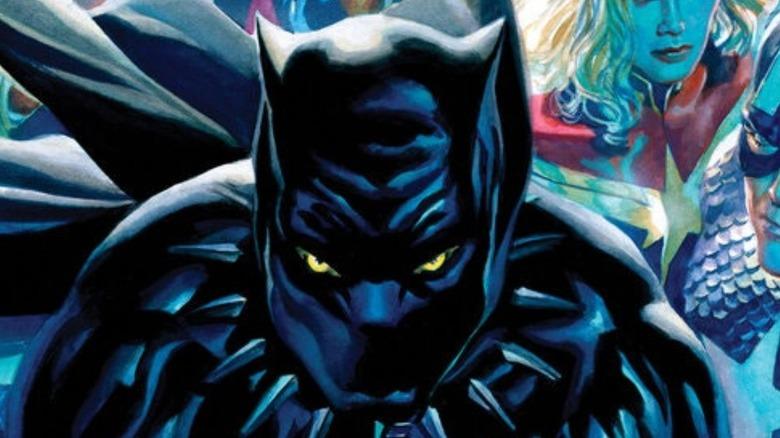 Masked Black Panther yellow eyes