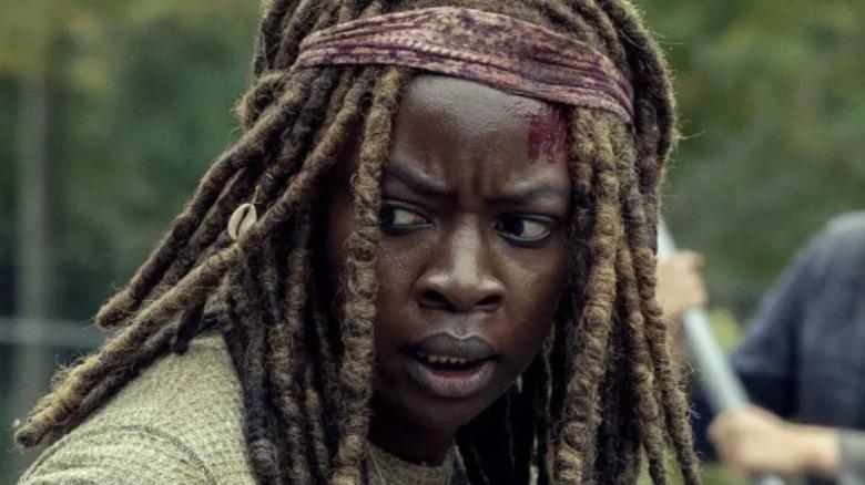 Danai Gurira as Michonne on The Walking Dead