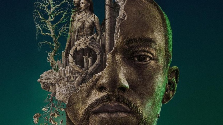 Anthony Mackie in a poster for Altered Carbon season 2
