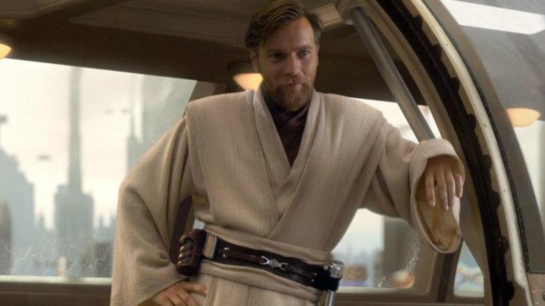 Obi-Wan Kenobi leaning