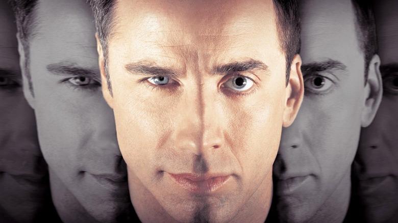 Original Face/Off poster art featuring John Travolta and Nicolas Cage