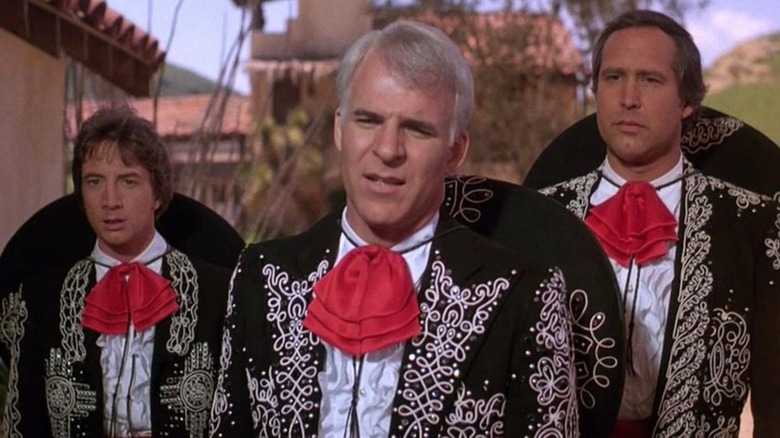 Martin Short, Steve Martin, and Chevy Chase in Three Amigos