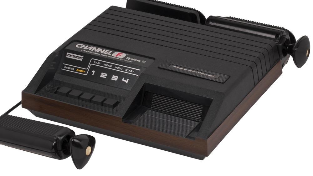 A picture of the original Fairchild Channel F game console.