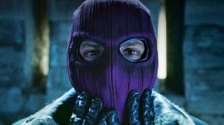 Zemo wearing a purple mask