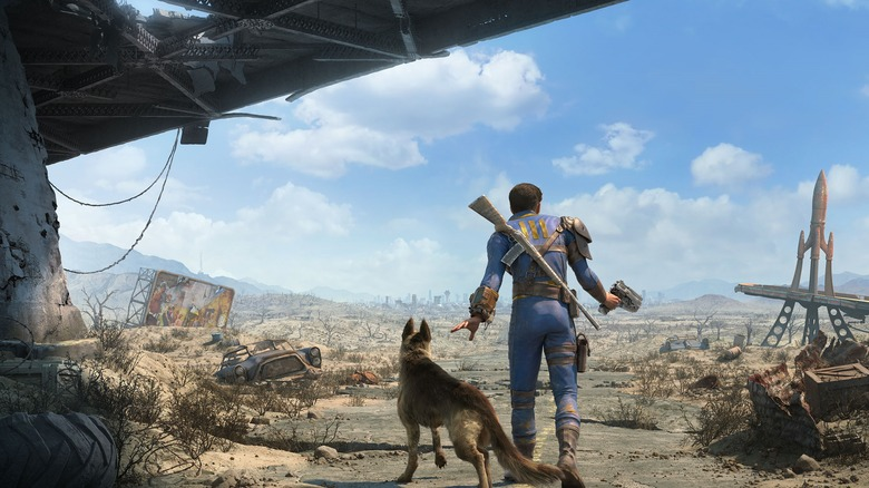 A promotional image for Fallout 4