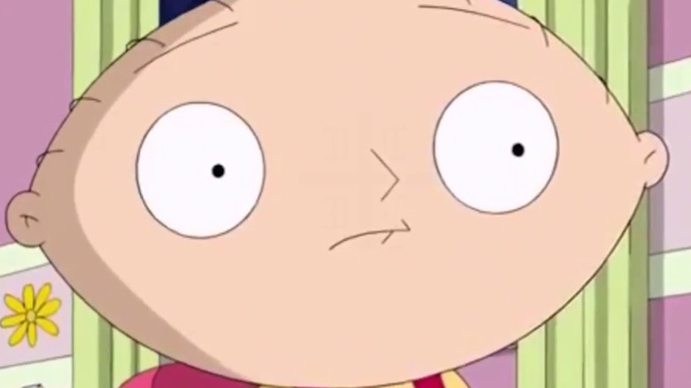 Stewie Griffin in a close-up