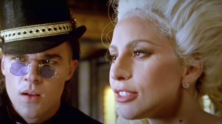 Lady Gaga and Finn Wittrock being creepy