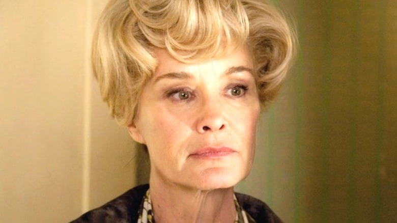 Constance Langdon staring sternly