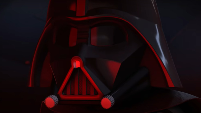 LEGO Darth Vader in red lighting