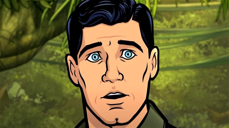 Sterling Archer looking shocked