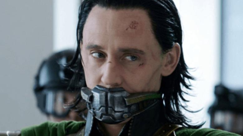 Tom Hiddleston Loki gagged