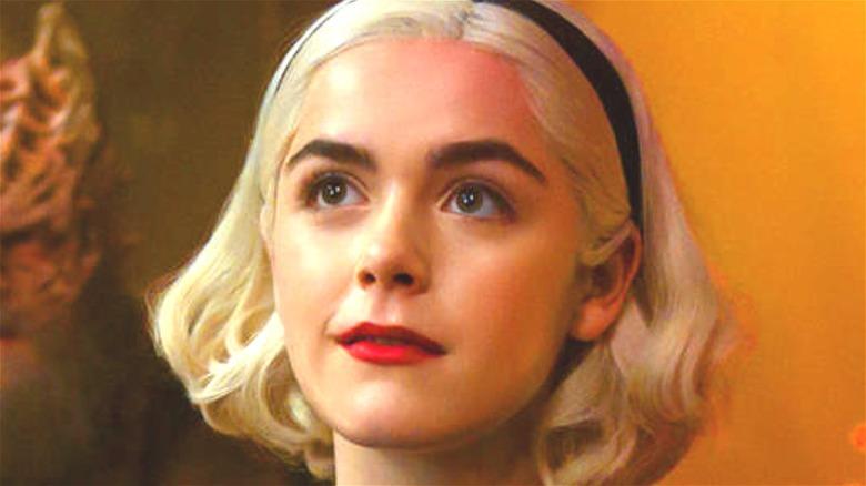 Shipka as Sabrina in headband