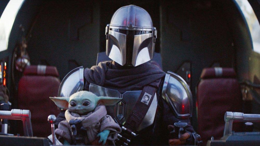 The Mandalorian and Baby Yoda on The Mandalorian