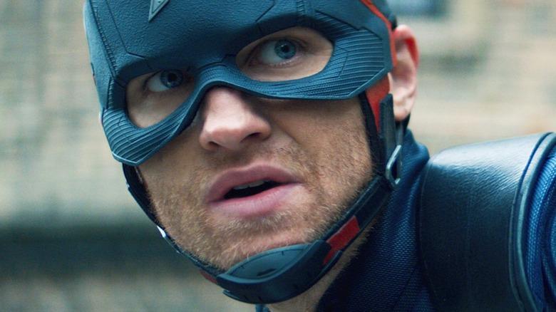 John Walker in Captain America costume