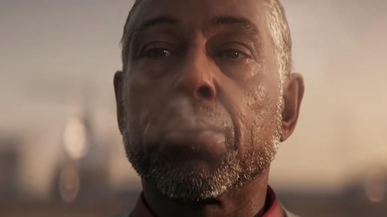 Giancarlo Esposito smoking