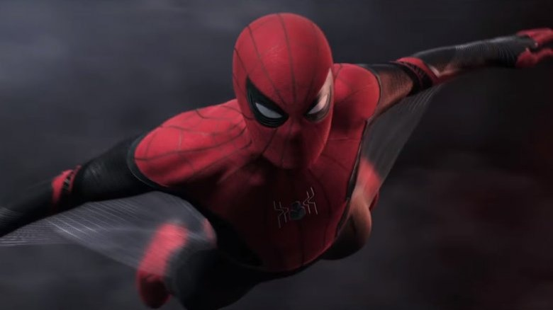 Spider-Man Far From Home Peter Parker flying