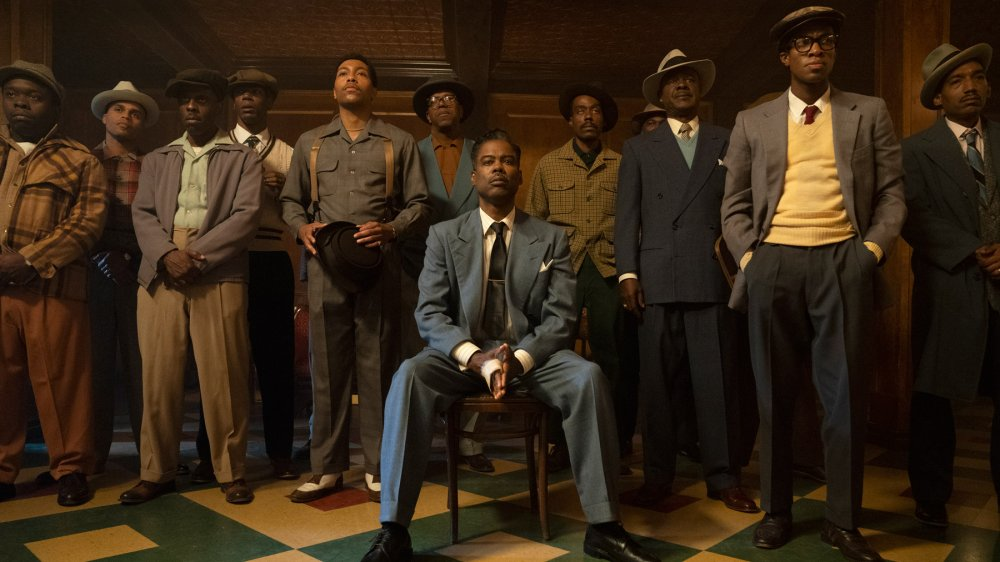 Chris Rock as Loy Cannon with his gang in Fargo season 4