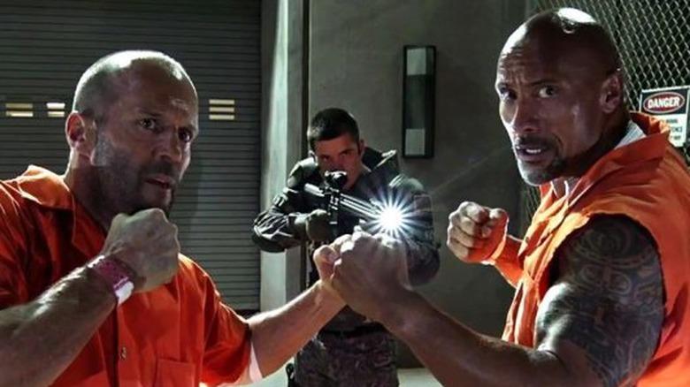 Hobbs and Shaw Jason Statham Dwayne Johnson