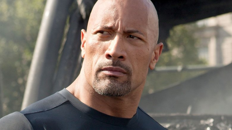 """Dwayne """"The Rock"""" Johnson as Luke Hobbs in Fast and Furious"""